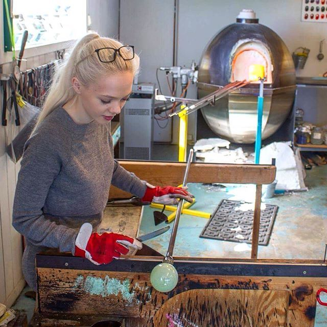 The importance of always trying something new ✨#glassblowing #stavanger