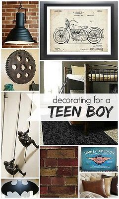 """Designing a """"Cool"""" Room for a Teen Boy 