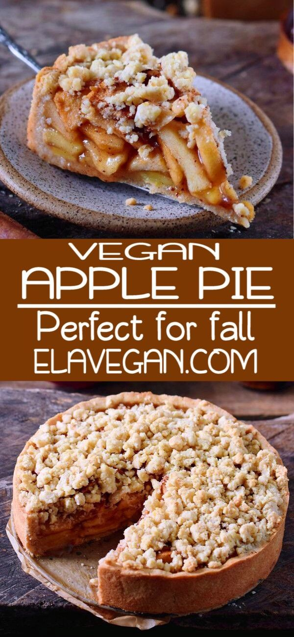 This Vegan Apple Pie With Streusel Is The Perfect Fall Dessert It