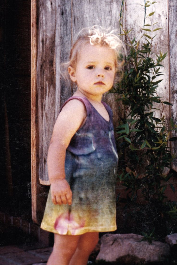 Hippy Child, my daughter in tie dyed singlet, Far South Coast of New South Wales, 1985