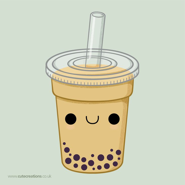 The cutest bubble tea. I actually am not a fan of the drink, but i like this one.