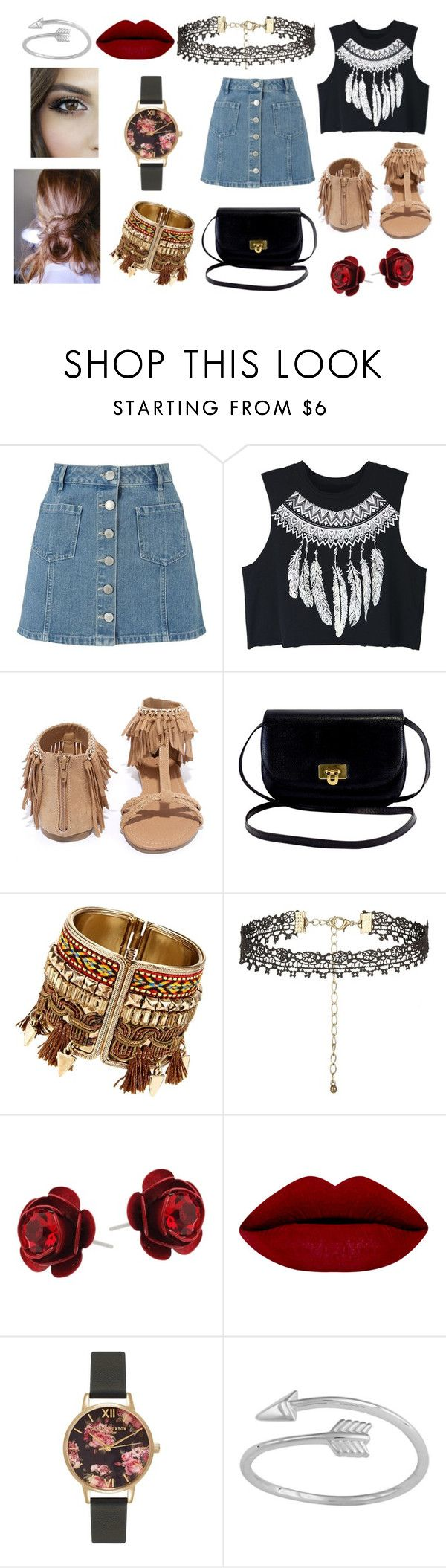 """Untitled #67"" by zahlia-tibbs on Polyvore featuring Miss Selfridge, WithChic, Qupid, Michal Negrin, Olivia Burton and Midsummer Star"