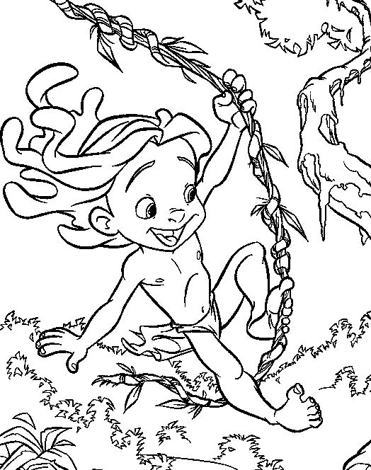 53 Best Tarzan Coloring Pages Images On Pinterest