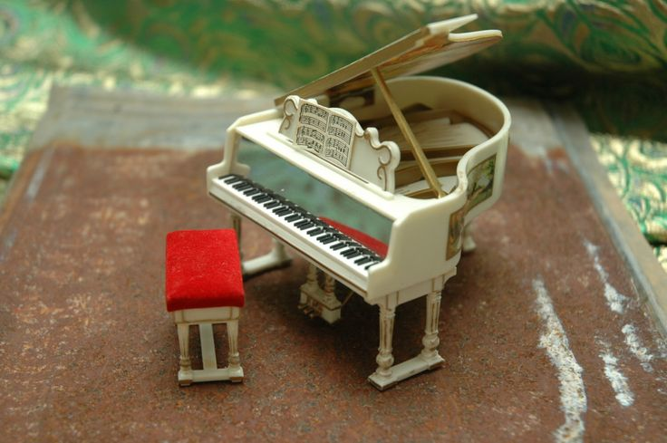 Petite Princess Royal Grand Piano Fantasy Furniture Red Gold Ideal Japan Vintage Dollhouse Miniatures Ambient Atelier Antique Dealer by AmbientAtelier on Etsy https://www.etsy.com/listing/486427510/petite-princess-royal-grand-piano