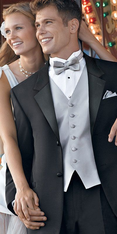 LOVE THE SILVER AND BLACK! Hope he does too! This would be perfect with pink accent flowers