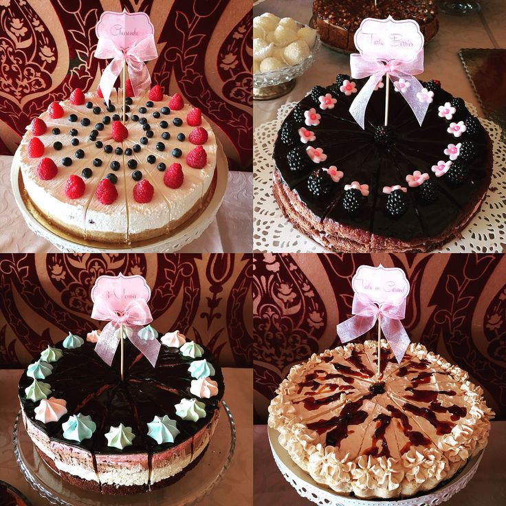 Cakes for dessert bar