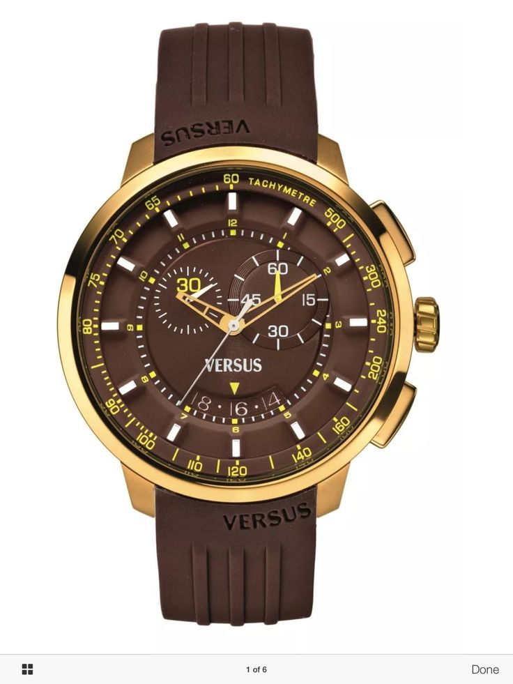 Sale Versus by Versace Mens SGV060013 Manhattan Gold IP Chronograph MSRP $295.00