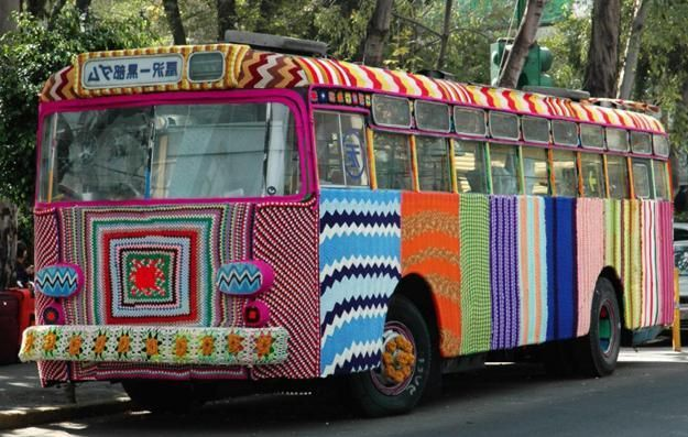 bus decorating with crochet patterns
