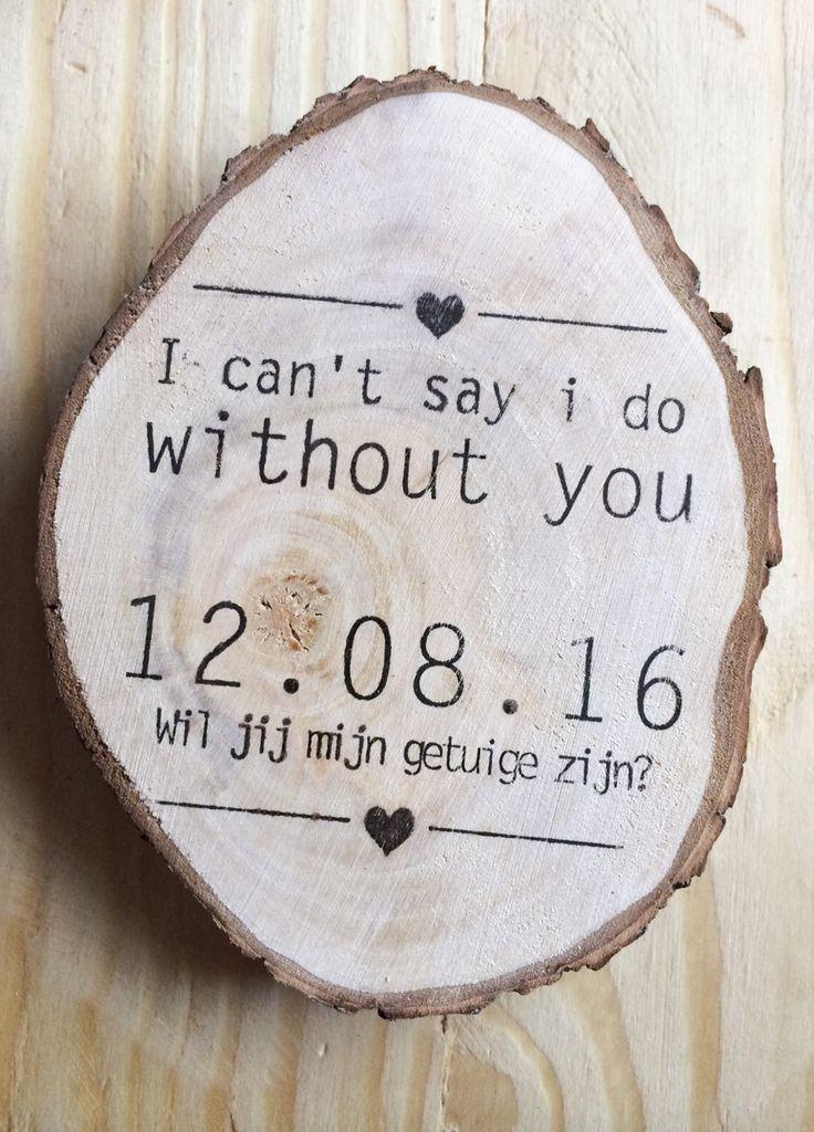 I can't say i do without you - Wood Slice - Personalized - €7,00 Shop hem hier op www.brisked.nl, de Nederlandse webshop voor gepersonaliseerde houten producten voor bruiloften.