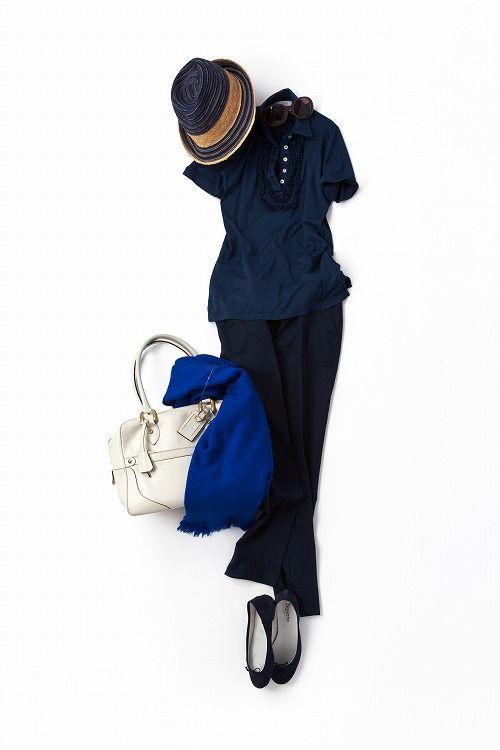 コーディネート詳細(ちょっとレトロにまとめたネイビーが気分)| Kyoko Kikuchi's Closet|菊池京子のクローゼット