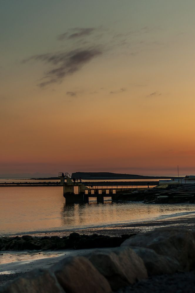 #Sunset at the famous#Blackrock Pier in Salthill, #Galway.  Love #Irish Sunsets