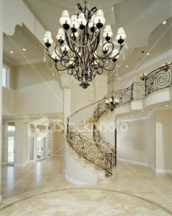 Elegant Mansion Foyers: Elegant Staircase