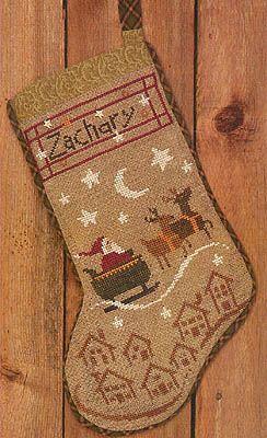 Christmas Eve Stocking - Cross Stitch Pattern