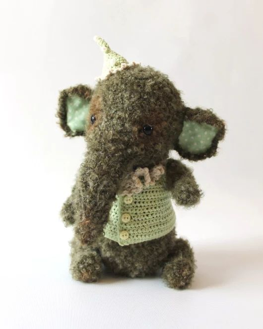 Pluszowy słonik na szydełku | Zapomniane Zabawki