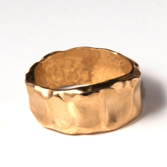 Butter 18k gold plated ring by doronmerav on Etsy, $60.00