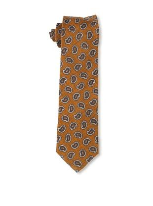 Gitman Blue Men's Paisley Tie, Brown/Orange