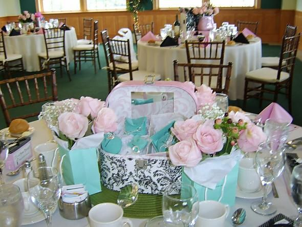 Centerpieces From My Bridal Shower Shower Brunch Ideas