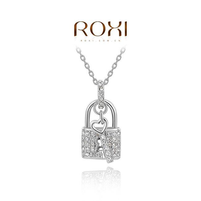 Интернет-Магазины Индия Покрытием Золото Замок Сердца Подвески Кристалл Chokers Ожерелья Для Женщин Модные Ювелирные Изделия Бесплатная Доставка