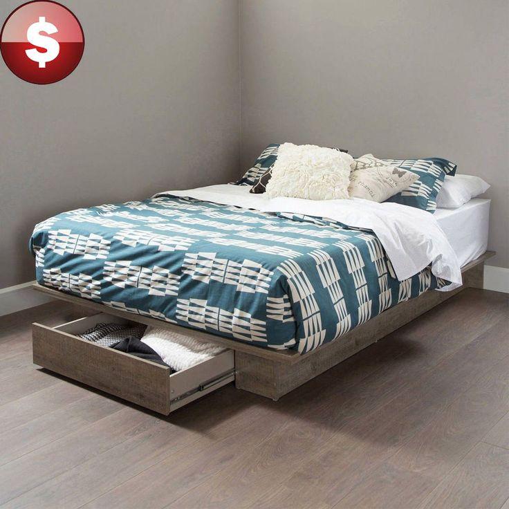 17 best ideas about pallet platform bed on pinterest diy for Pallet bed frame queen