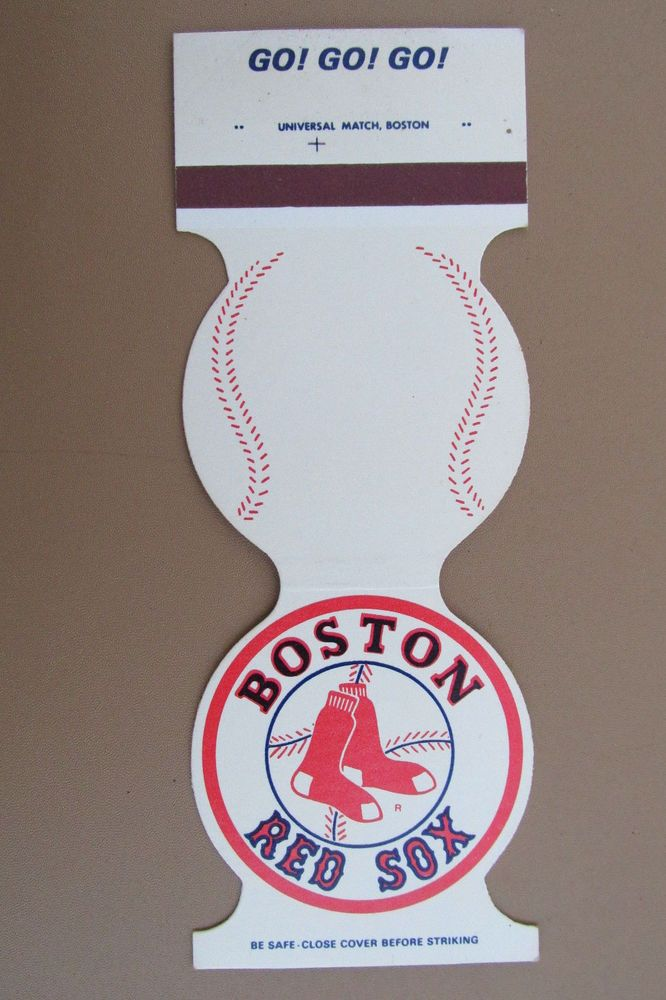 Boston Red Sox 1980 Games Schedule Baseball Sport Jewelite Matchbook Match Cover