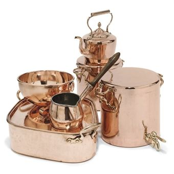 Copper Cooking Utensils | COLLECTION OF VICTORIAN COPPER COOKING UTENSILS