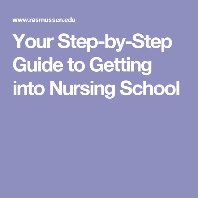 Your Step-by-Step Guide to Getting into Nursing School