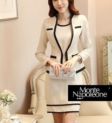 Vestito nero giacca beige 80s