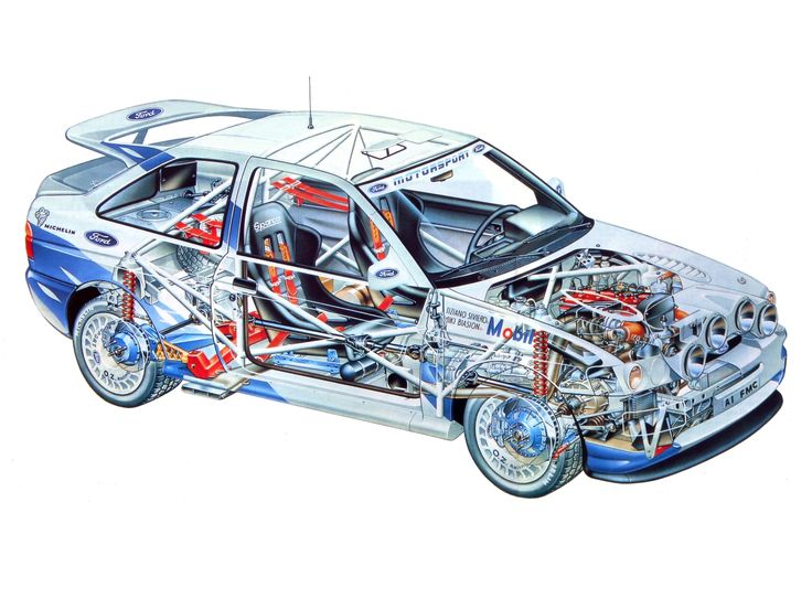 Ford Escort RS Cosworth Rally Car (Vb) '1993–96 | Cutaways ...