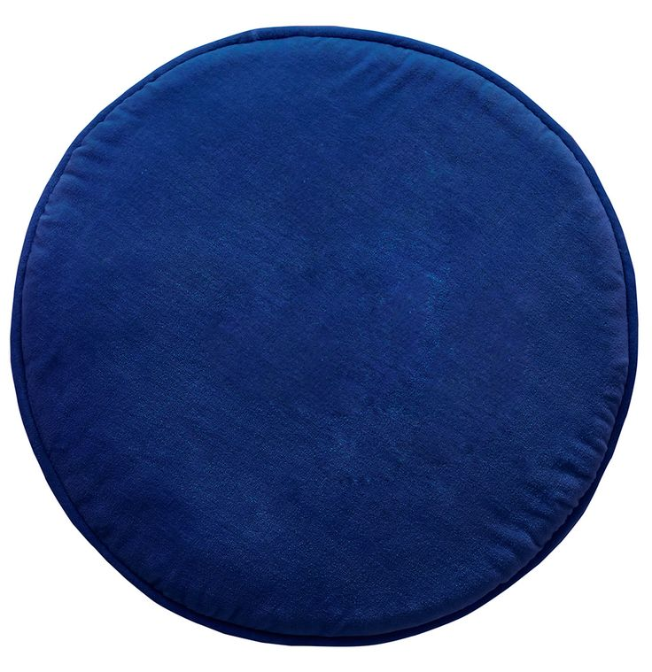 COBALT VELVET PENNY ROUND COVER | Castle and Things