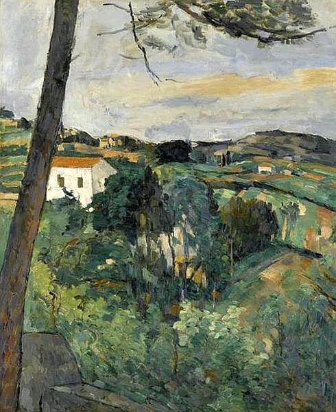 """""""Paysage au toit rouge"""" ou """"Le pin à l'Estaque"""" par Pierre-Auguste RENOIR 1875-76"""