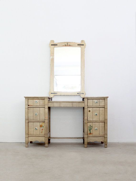 1940s Monterey style vanity / vintage southwestern desk by 86home, $900.00