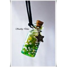 "Colier ""Sticluta magica"" - verde"