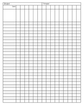 This versatile data collection sheet is perfect for meeting various record-keeping needs.  It can be used to track exit slips, attendance, assessment scores, behavior, and more.  Enjoy!