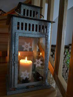 Nasz pomysł na świąteczną dekorację lampionu