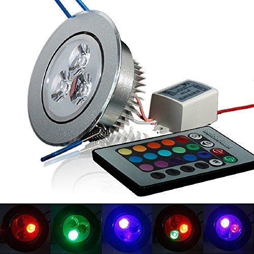 XJLED� 5W Led Deckenspots RGB Lights,AC85-265V, Farbige Leuchtmitte,Tolles Design Led Deckenleuchten LED Einbaustrahler Dekorative Leuchtmittel f�r Zuhause (1 Pcs)