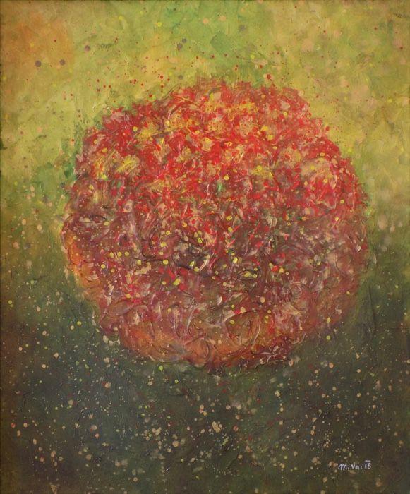 Na počátku (In the begining) Acrylic on canvas, 50x60cm, © Mirek Vojáček