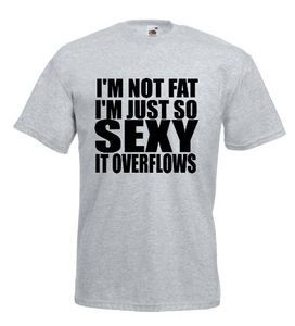 £9.99 I'M Not #Fat I Am So #Sexy It Overflows Funny #Mens #Tshirt -Worldwide Delivery #slogan