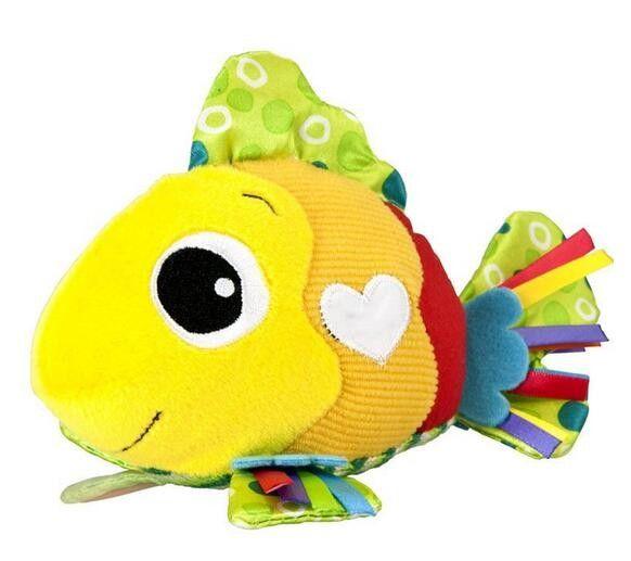 Random distribution 2016 New Baby toy BIBI Stick Animal Sound Toys Rattle Baby Hand Puppet Enlightenment Plush Doll BB Stick