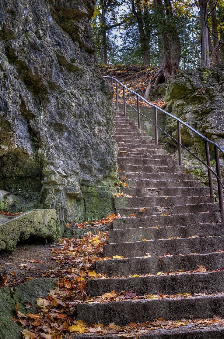 Steps to the Elora Gorge. Ontario Canada. October 13, 2012. http://www.ontariotrails.on.ca/trails-a-z/elora-gorge-trail