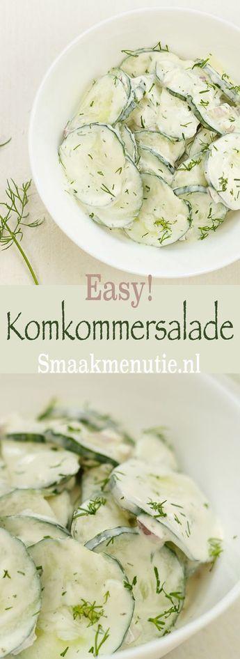 Komkommersalade #recipe #recept #komkommersalade #bijgerecht #sidedish