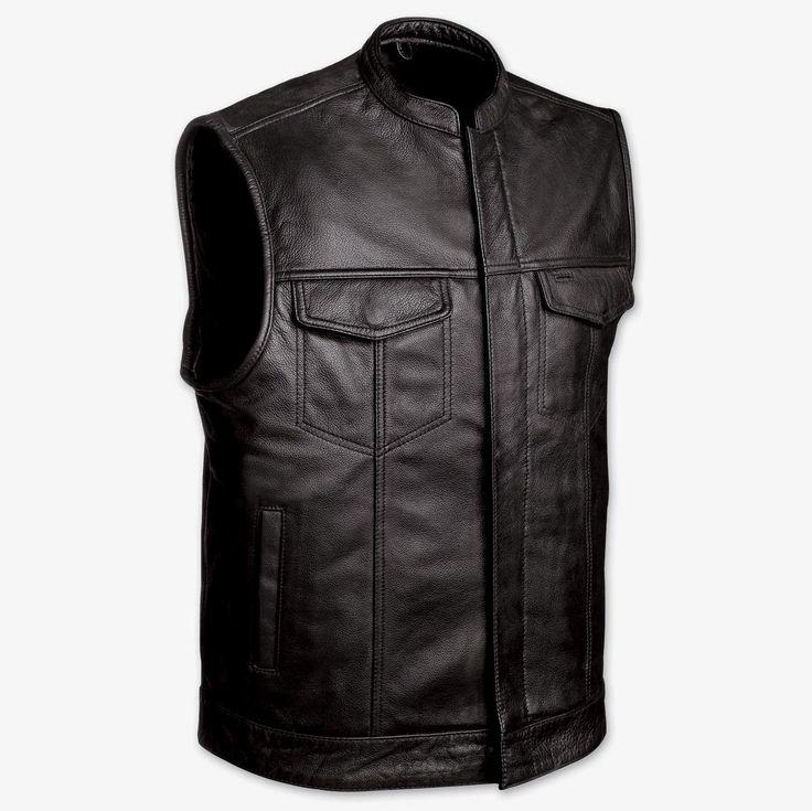 soa sons of anarchy leather vest $65.95 #sonsofanarchyvest #soavest #motorcyclevest #soaleathervest https://theleatherdropship.com