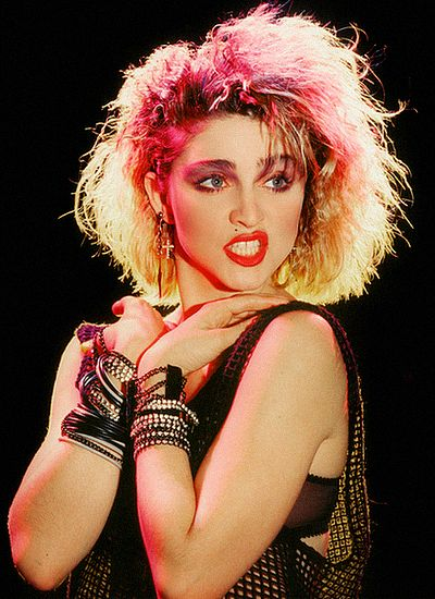 Madonna in the 80's. Oh how we loved Madonna and the bracelets!!!