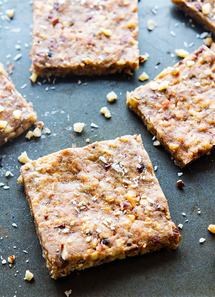 Super easy 3 Step Paleo Baklava Bars! Healthy vegan friendly paleo baklava flavored bars that are packed full of sweet nutty flavor and healthy fats.