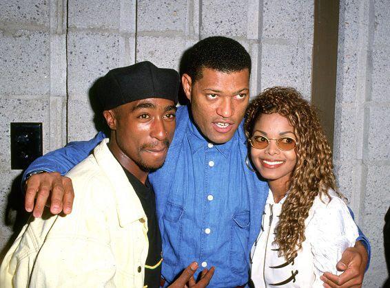 Tupac Shakur Laurence Fishburne and Janet Jackson