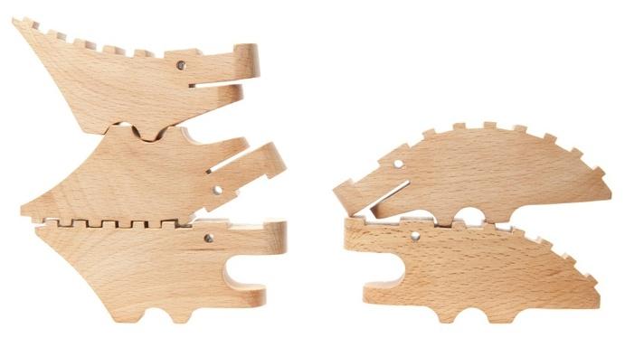 Croc Pile from @Areaware. Design by Karl Zahn. #wooden #design