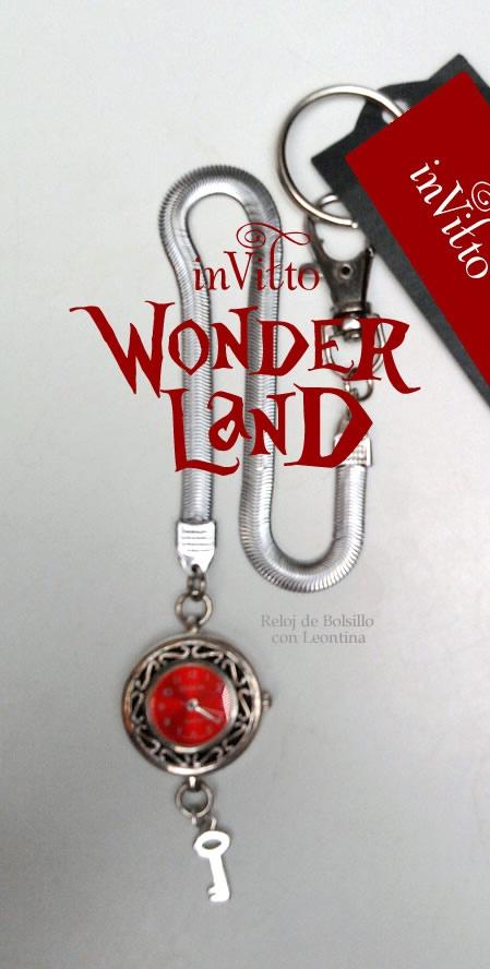 Reloj Rojo de Bolsillo con Leontina