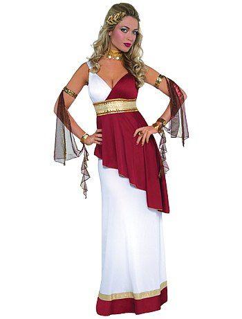 Déguisement d'impératrice romaine Femme 29,00€ Princesses, fées Déguisement d'impératrice romaine. - Comprend 1 robe, 1 collier et 2 manchettes - Robe bicolore avec dé
