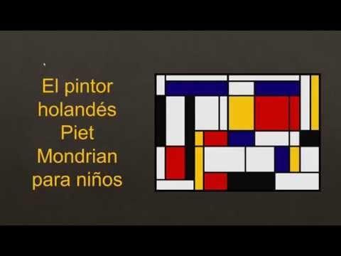 Realizamos una descripción de la vida y principales características de la obra de Mondrian con ejemplos prácticos para trabajar con niños en la clase