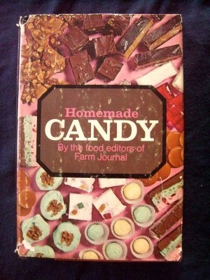 "Hard cover cookbook from 1970, compiled by the Farm Journal that has nothing but ""from scratch"" recipes for HOMEMADE CANDY! There are 100's of old school recipes for these sweet treats! Homemade Candy by the food editors of Farm Journal is jam packed with tons of great candy recipes including fudge & more"