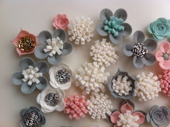 33 mano in 3d fiori/rose feltro & 33 glitter di cutzbothways